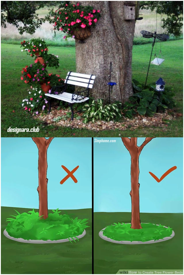 8.SIMPHOME.COM Highlight Your Tree with Flower Beds