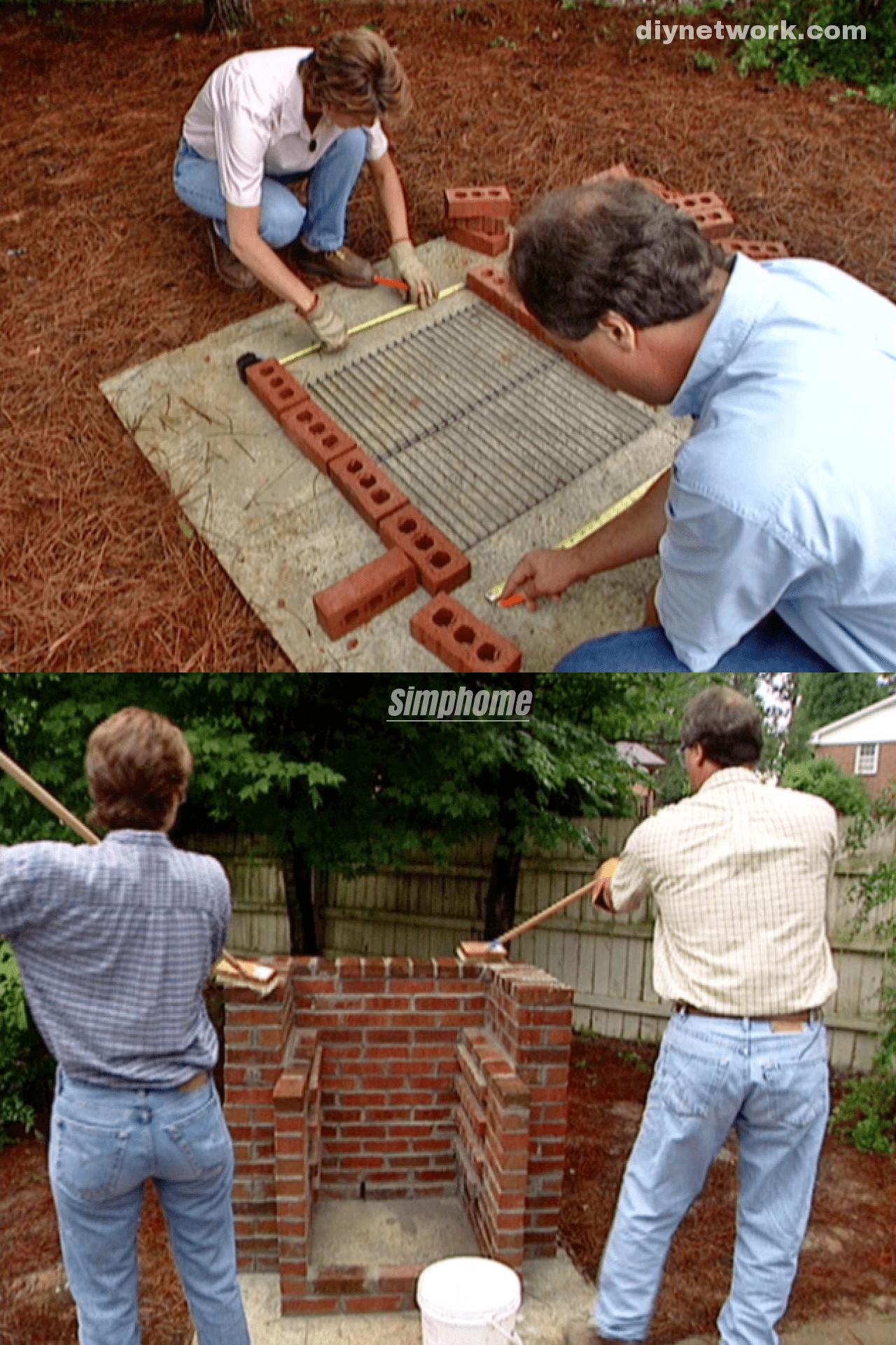 9.SIMPHOME.COM Simple Brick Barbeque