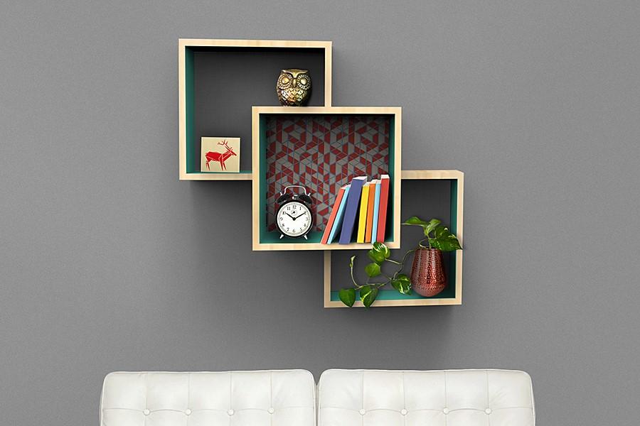 9.Simphome.com Wall Mounted Shelves on a Budget