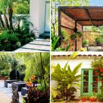 SIMPHOME.COM 10 Awesome Ideas How to Make Small Tropical Backyard Ideas Featured Image