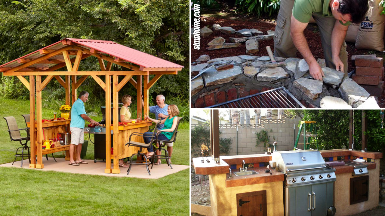 SIMPHOME.COM 10 Cheap Ideas How to Build Backyard BBQ Area Featured Image