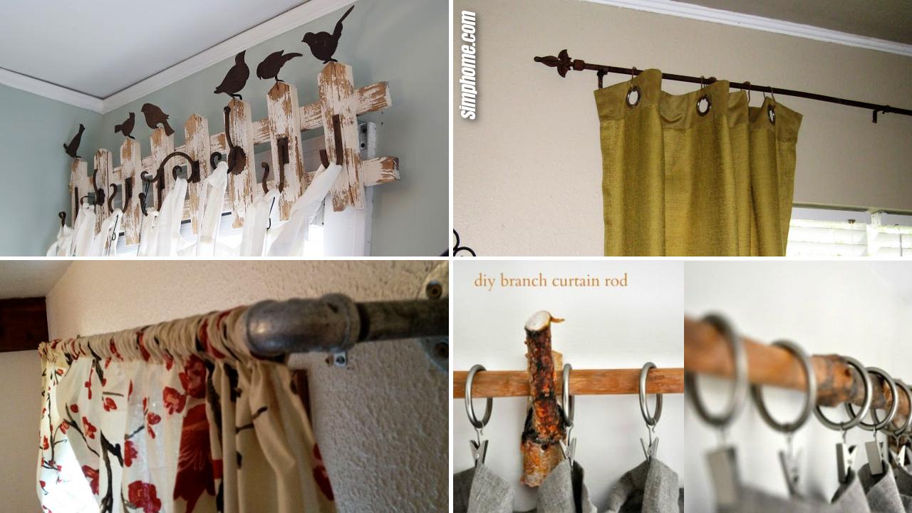 SIMPHOME.COM 10 DIY curtain rods ideas Featured