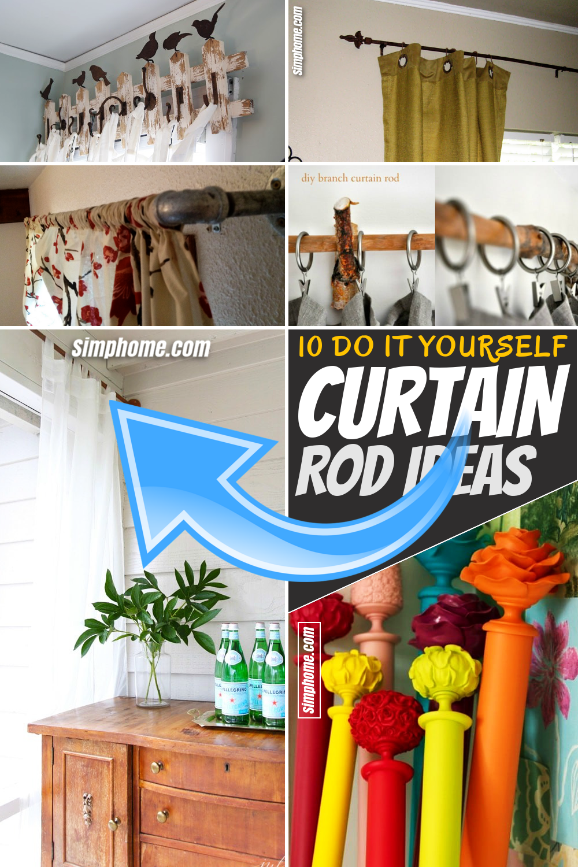 10 Diy Curtain Rod Ideas Simphome