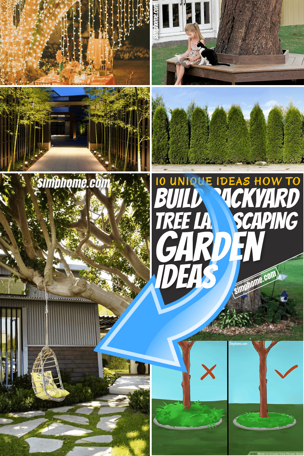 SIMPHOME.COM 10 Unique Ideas of How to Build Backyard Tree Landscaping Pinterest Featured image