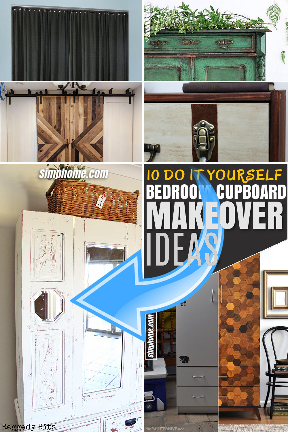 SIMPHOME.COM 10 bedroom cupboard makeover ideas Featured Pinterest