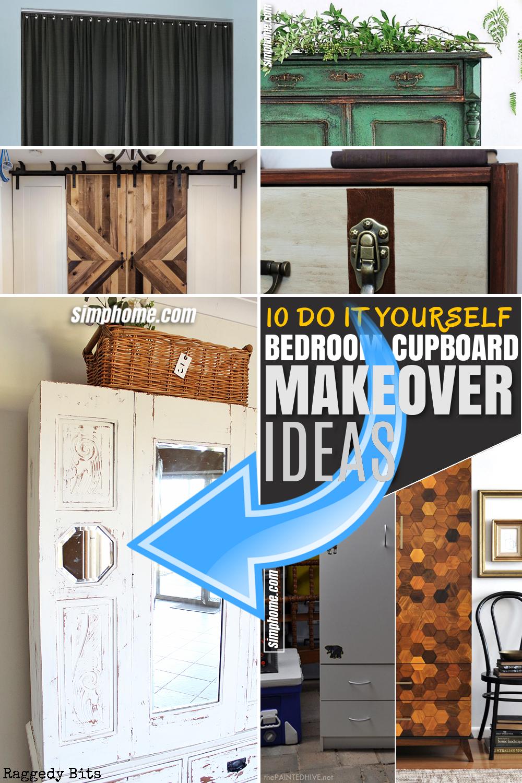 SIMPHOME.COM 10 bedroom cupboard makeover ideas Featured Pinterest