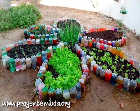 1.Simphome.com Flower Shaped Vegetable Garden Using Unused Bottles