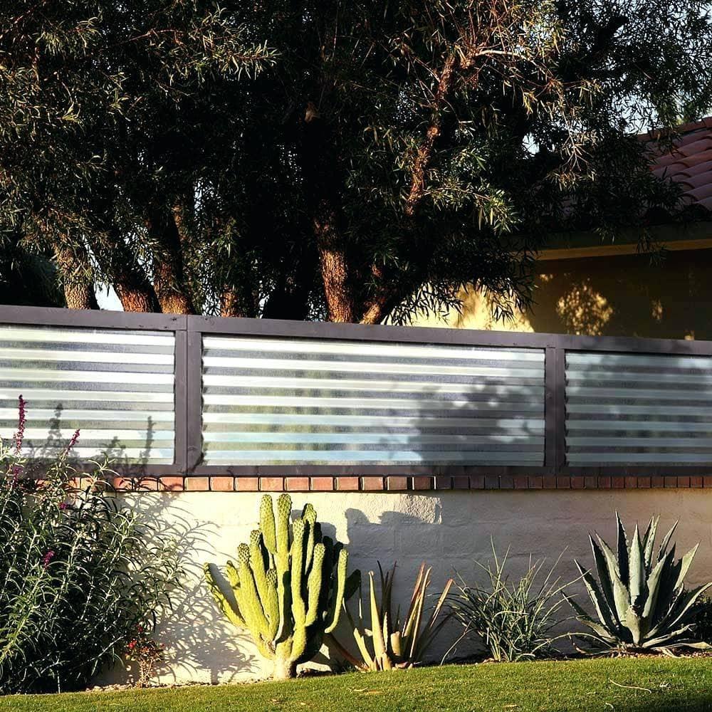 2.Simphome.com Corrugated Metal Fence