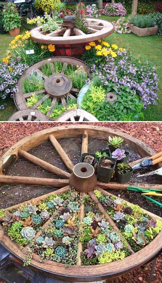 2.Simphome.com Use an Old Wagon Wheel