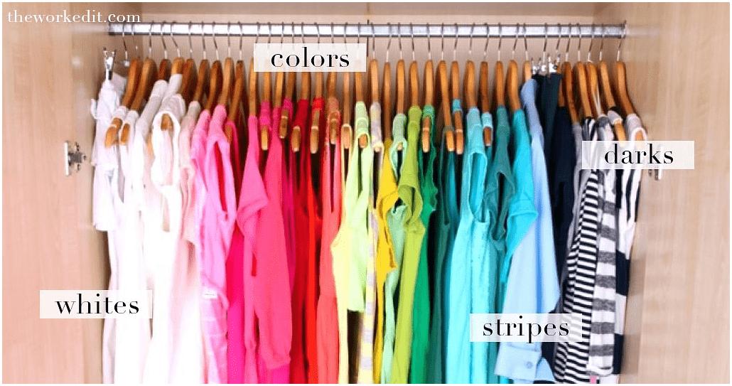 3. Simphome.com Sort your Clothes by Colors