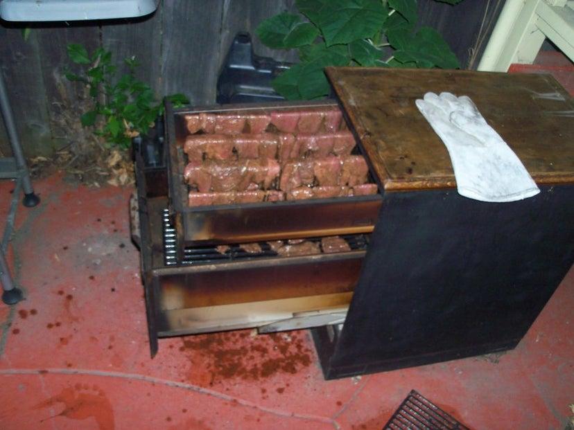 4.Simphome.com Metal Filing Cabinet Grill project idea