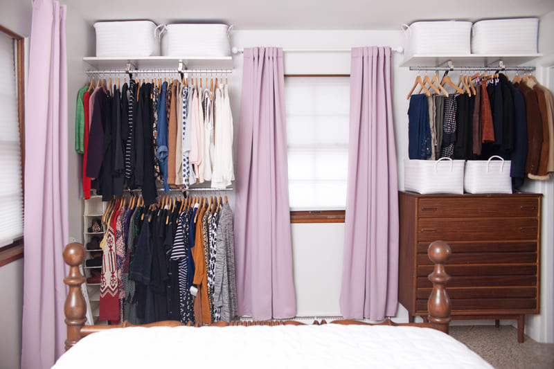 4.Simphome.com Opt for an Open Closet System