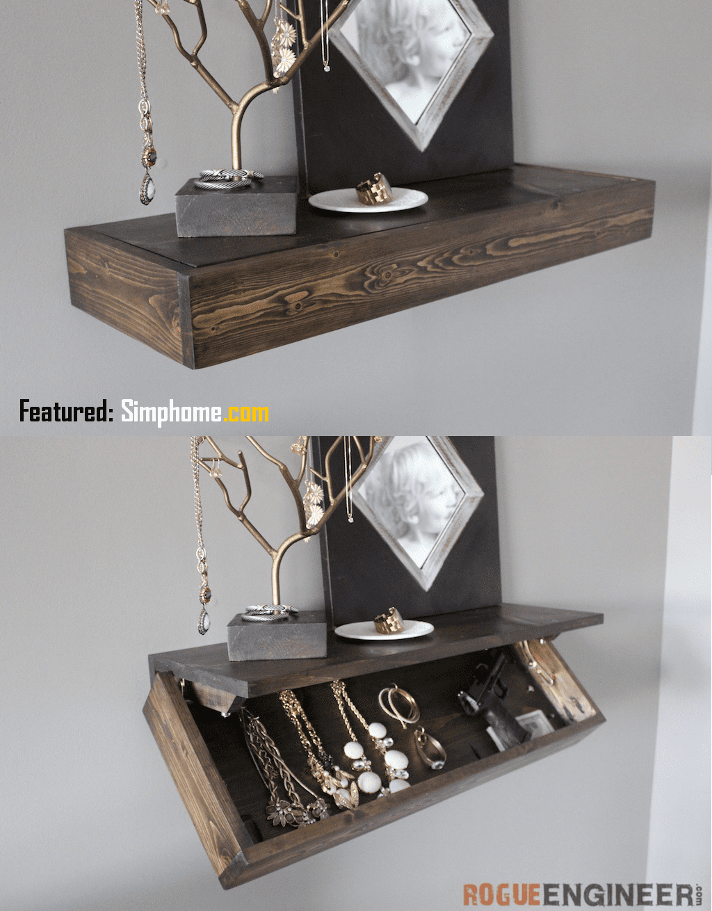 5.Simphome.com Floating Shelf with Drawer