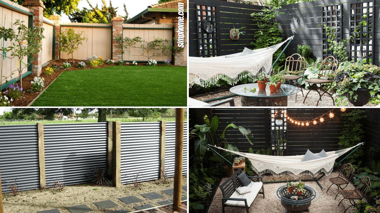 Simphome.com 10 Backyard and garden fencing ideas featured image