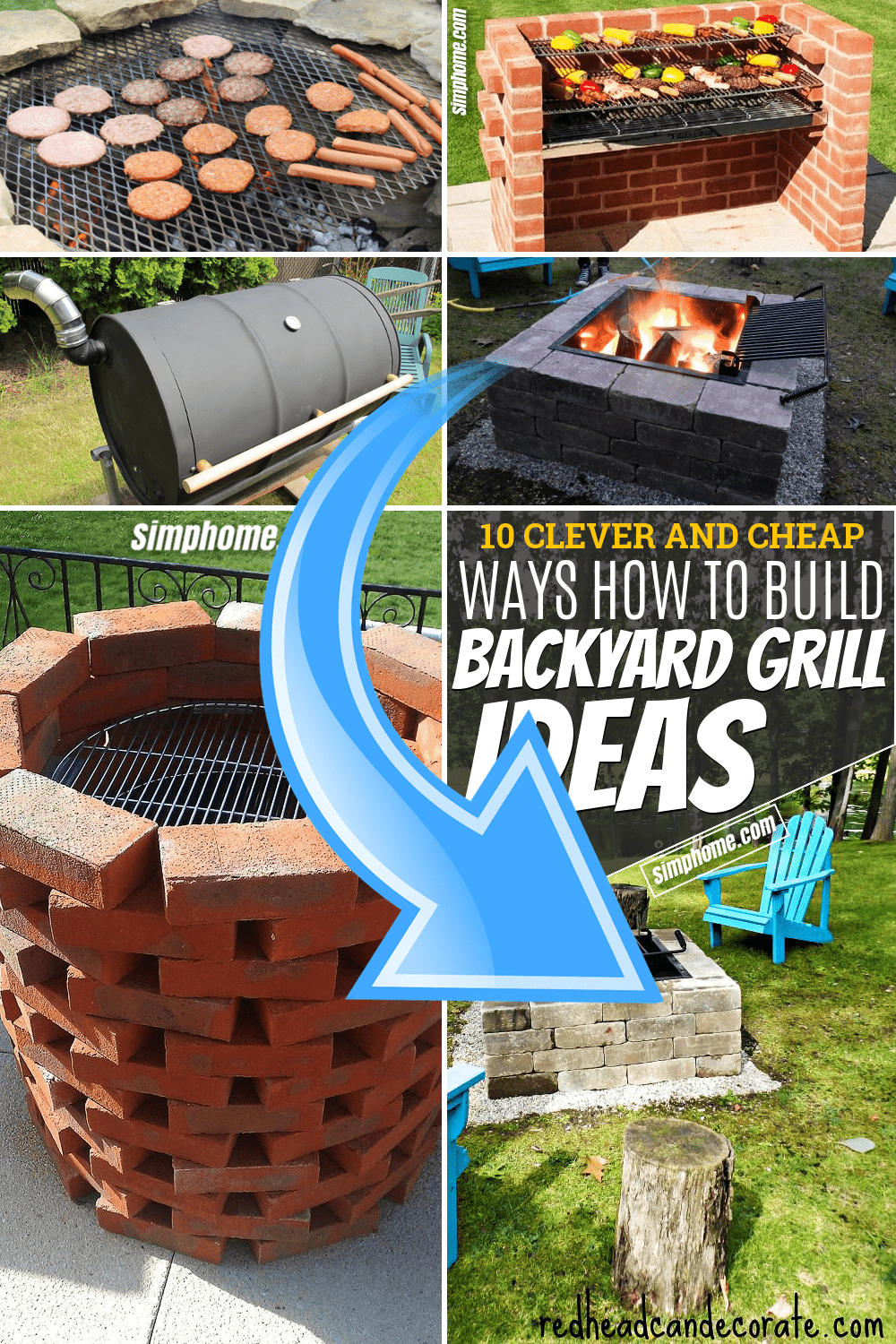 Simphome.com 10 Clever and Cheap Ways How to Build Backyard Grill Ideas Pinterest Faetured Image
