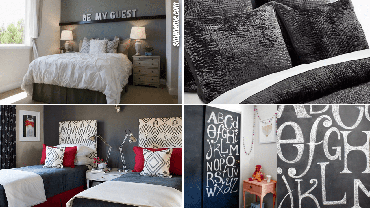 Simphome.com 10 DIY Bedrooms Decorating with Charcoal Grey Ideas Thumbnail Image