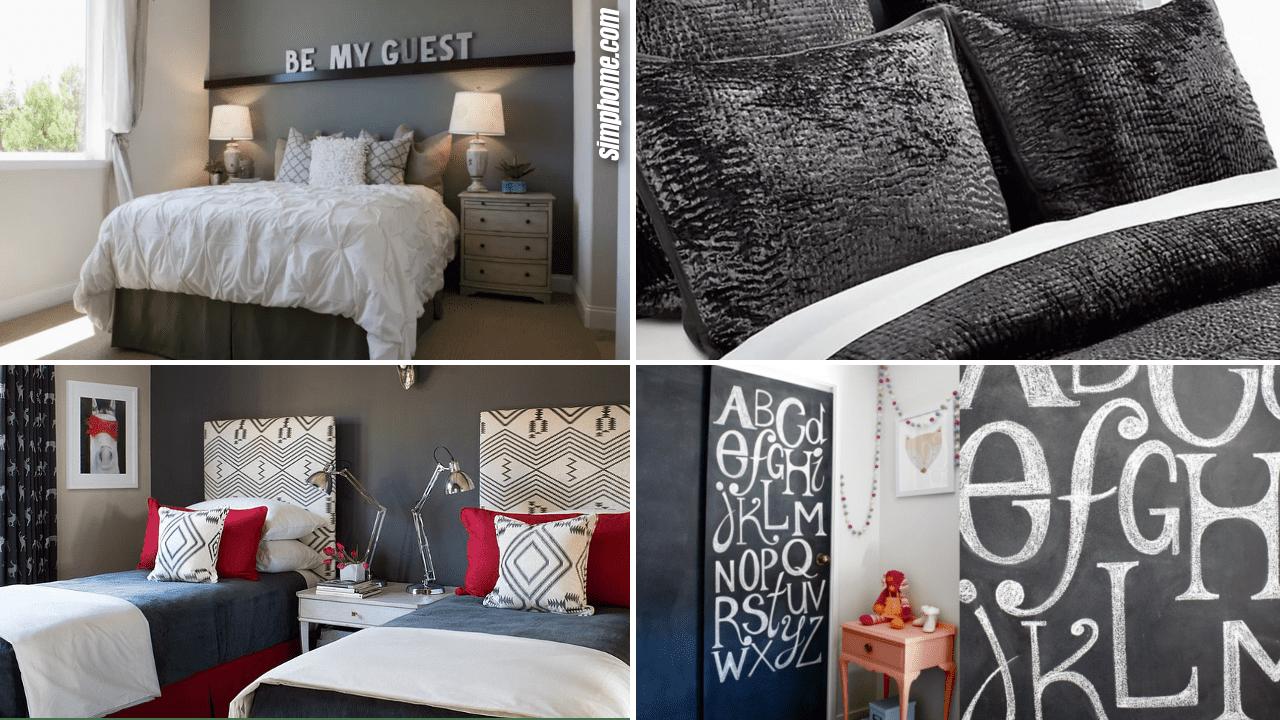 Simphome.com 10 DIY Bedrooms Decorating with Charcoal Grey Ideas Thumbnail Image