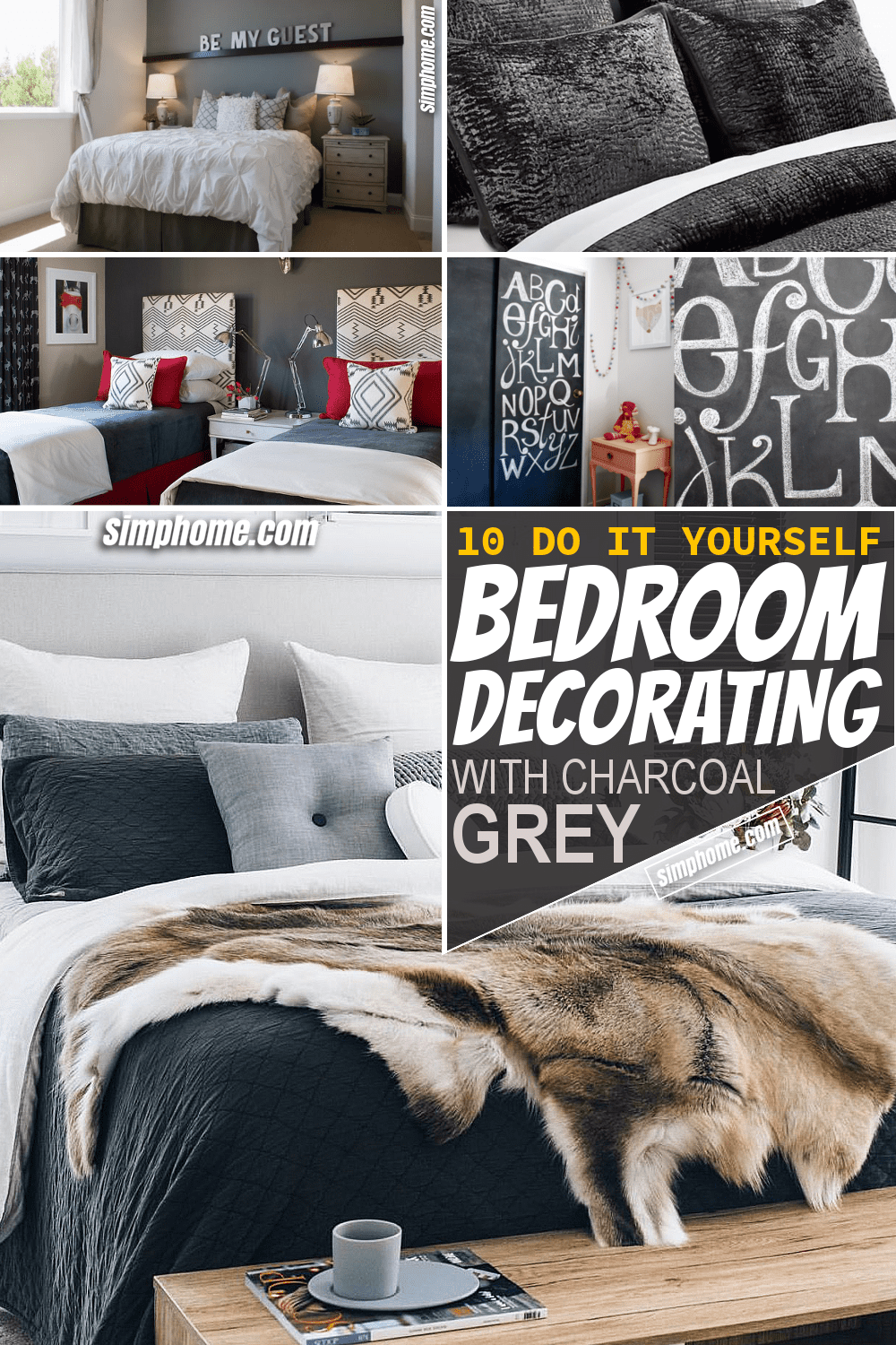 Simphome.com 10 DIY Bedrooms Decorating with Charcoal Grey ideas Pinterest Long