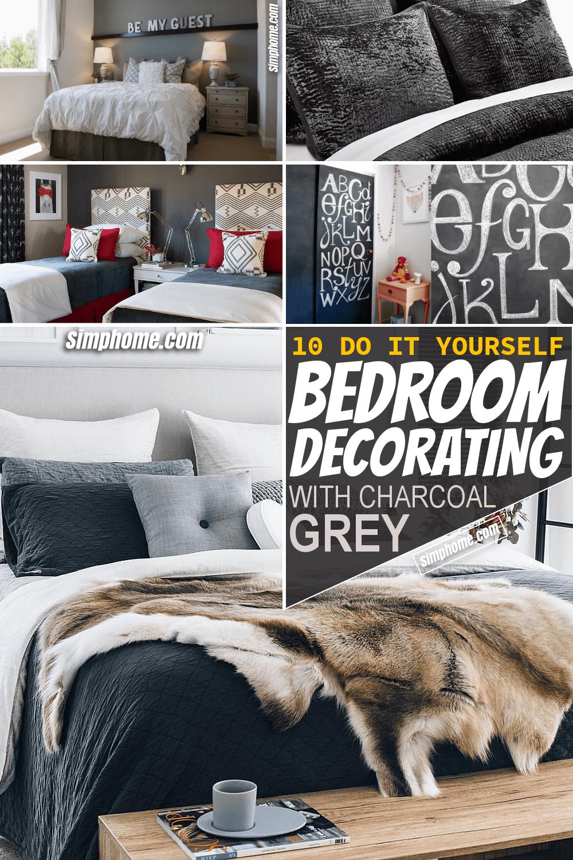 Simphome.com 10 DIY Bedrooms Decorating with Charcoal Grey ideas Pinterest Long