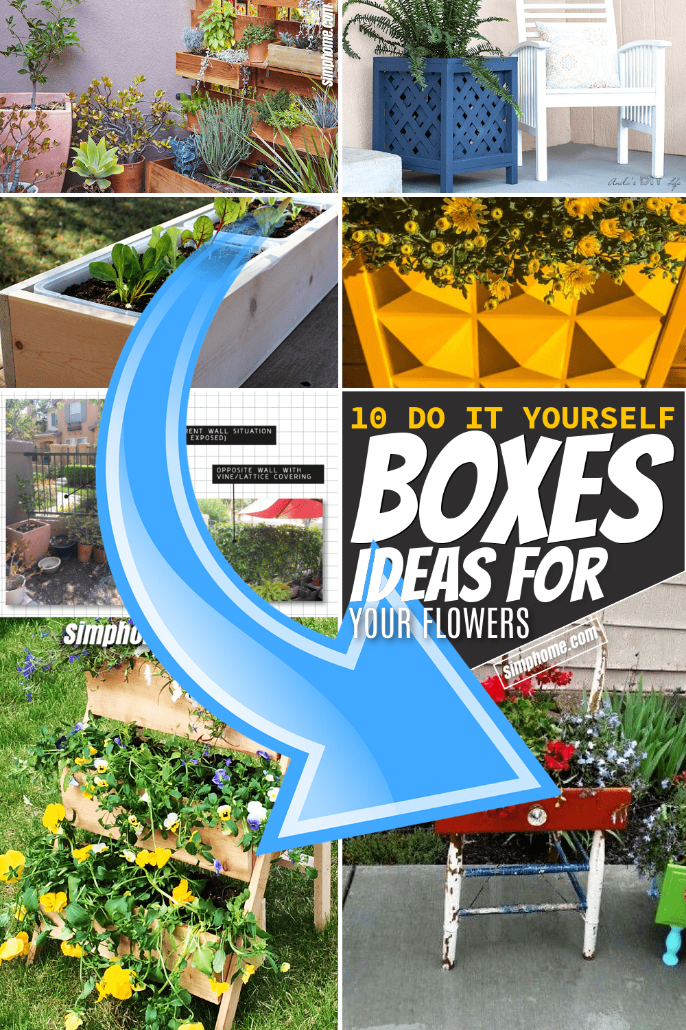 Simphome.com 10 DIY Boxes for Your Favourite Plant Or Flowers Featured Image Pinterest