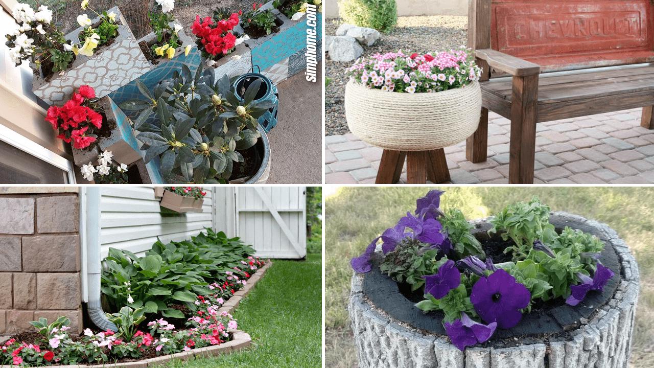 Simphome.com 10 DIY Flower Bed Ideas Featured Image