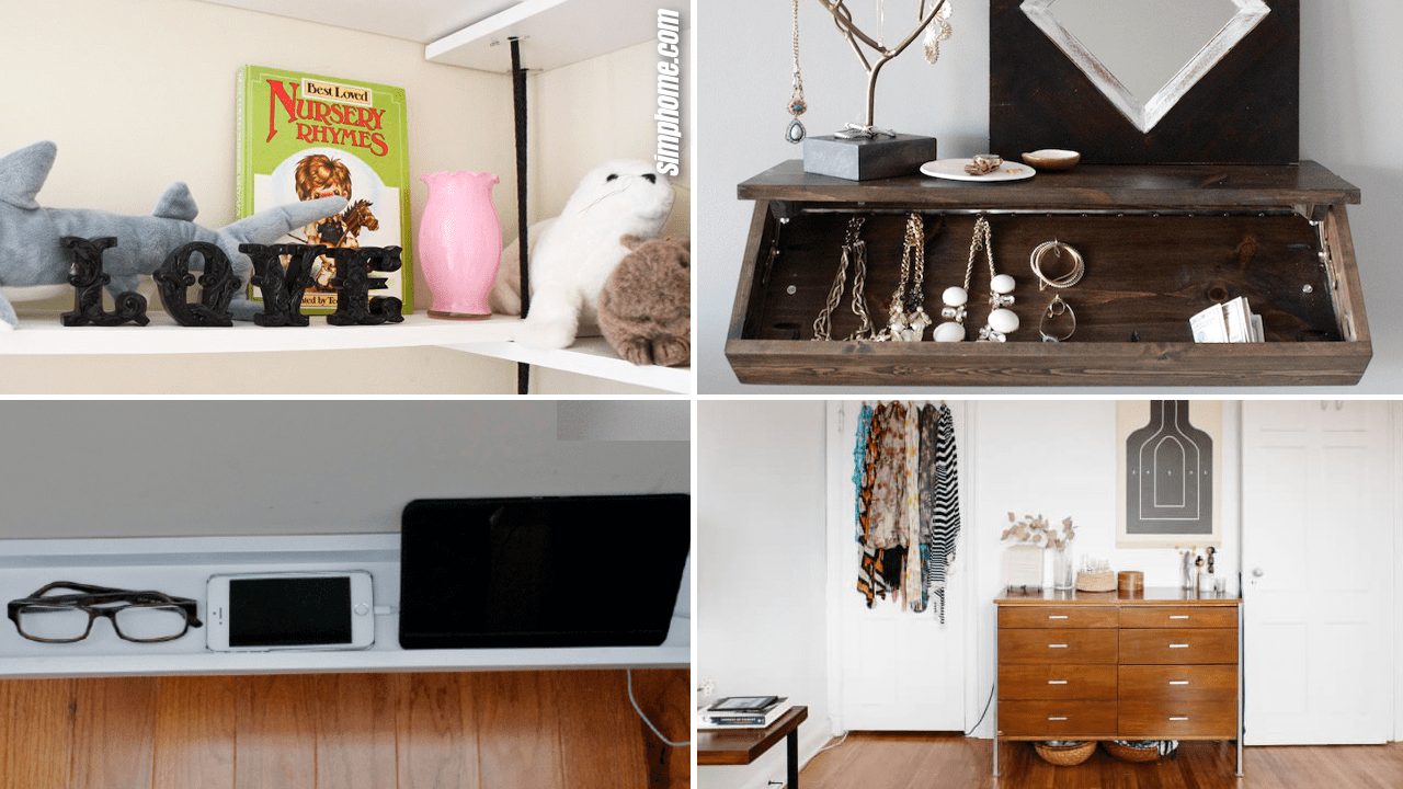 Simphome.com 10 Storage Ideas for Small Spaces Bedroom Featured