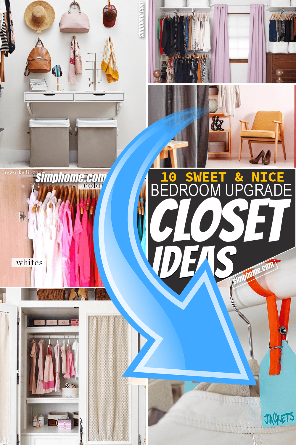 Simphome.com 10 bedroom closet ideas featured image