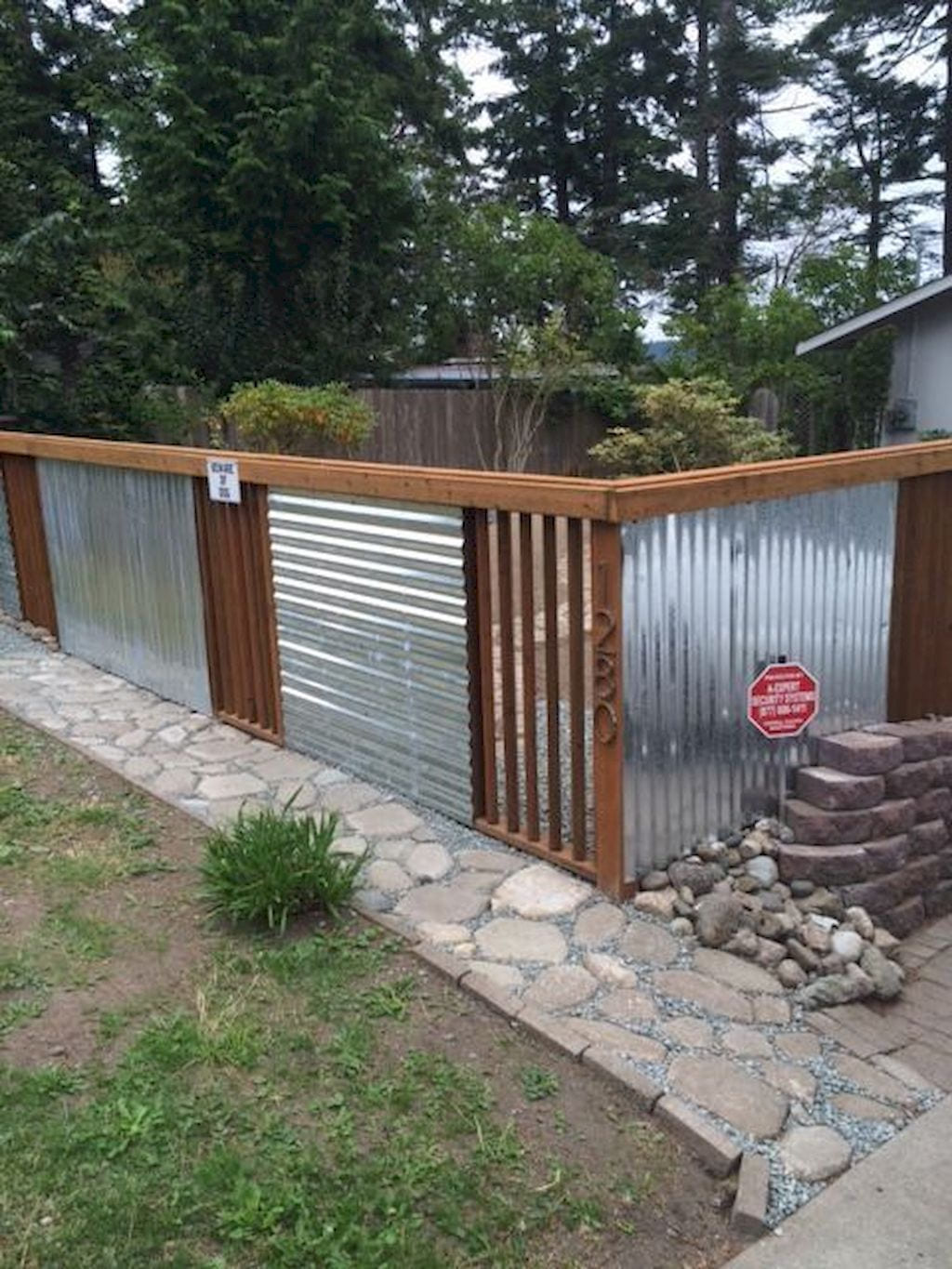 Simphome.com easy cheap backyard privacy fence design ideas fence ideas throughout year 2020 2021