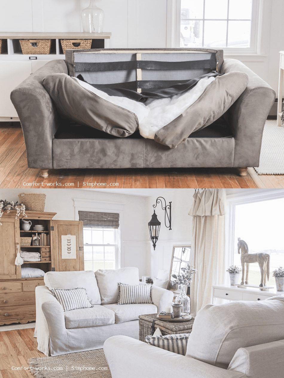 1.Simphome.com Slipcover for Sofas with Attached Cushions idea