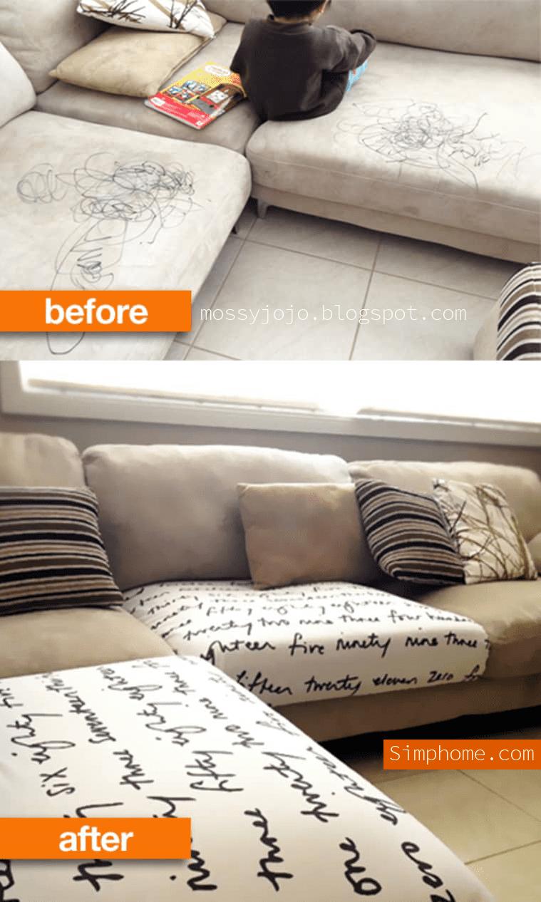 10. Simphome.com No Sew Temp Sofa Cover