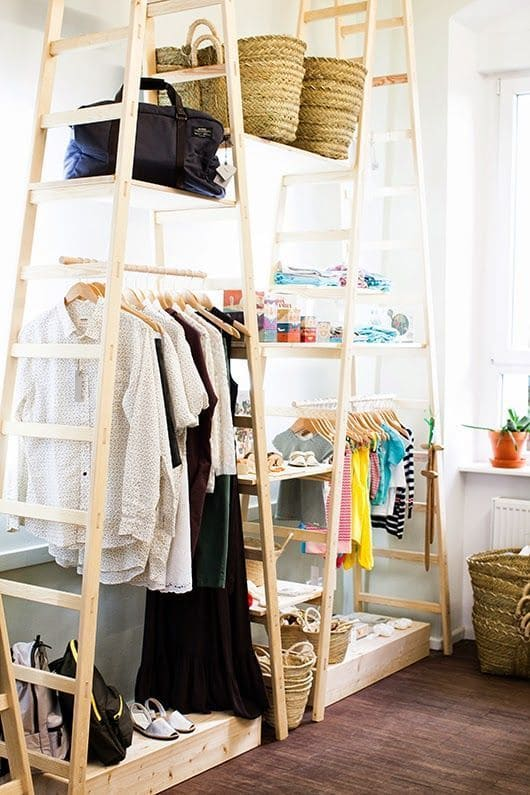 10.Simphome.com Ladder Clothing Racks