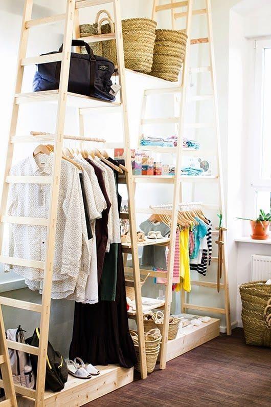 10.Simphome.com Ladder Clothing Racks