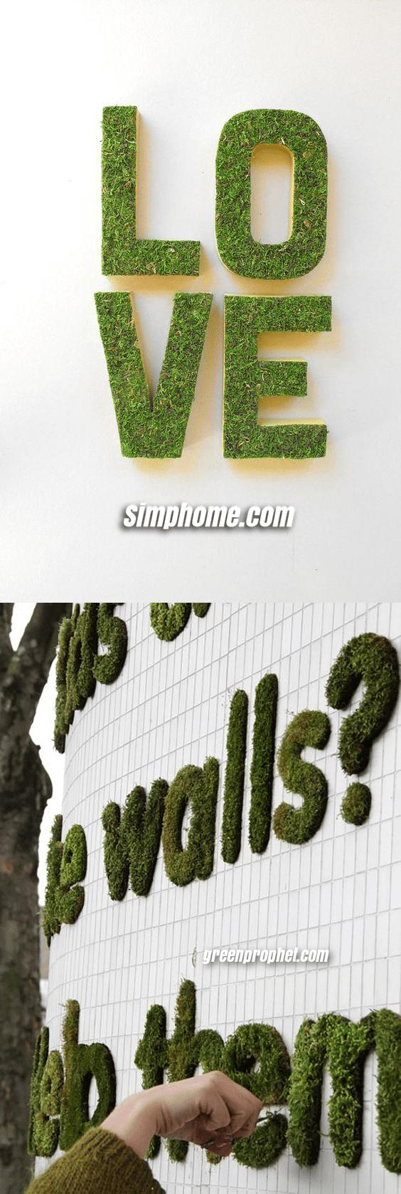 2.Simphome.com Moss Graffiti