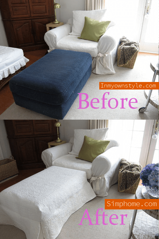 4.Simphome.com Quilted Slipcover