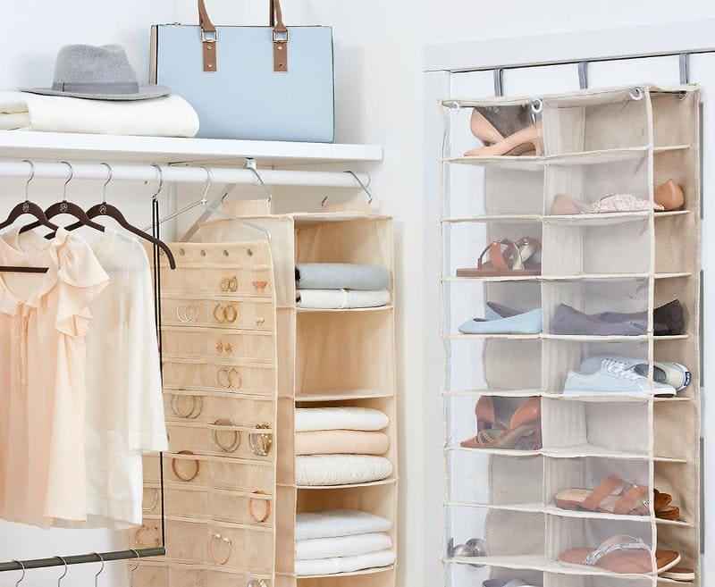 5.Simphome.com Fabric Hanging Shelves