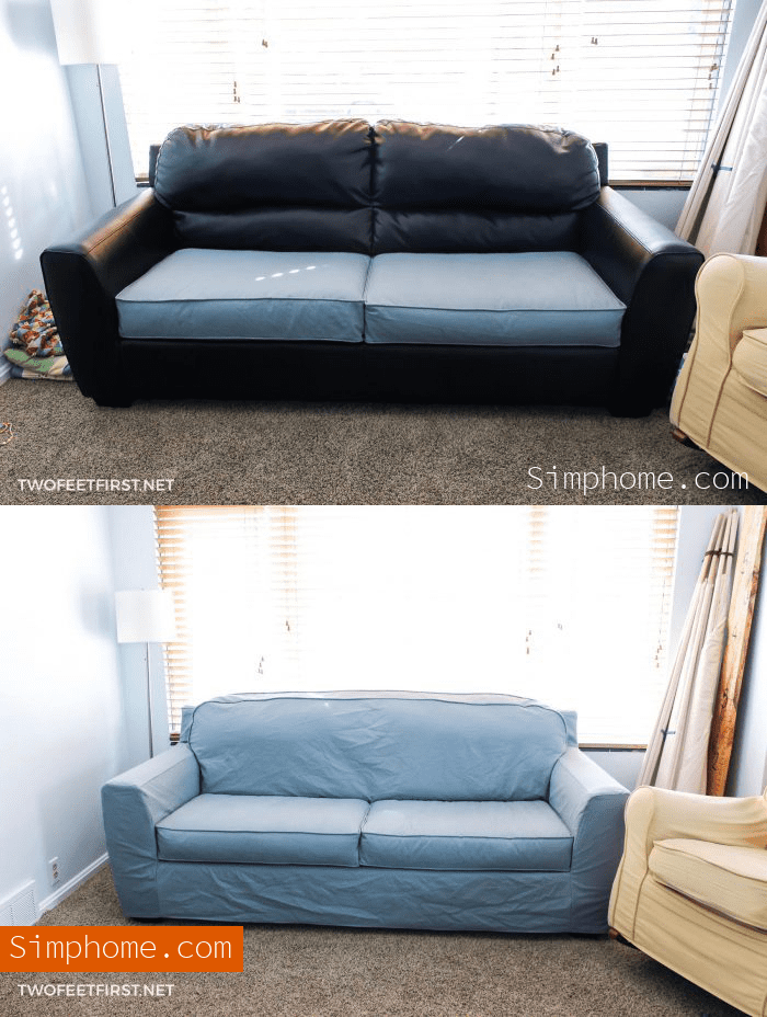6.Simphome.com An Easy Sofa Slipcover makeover idea