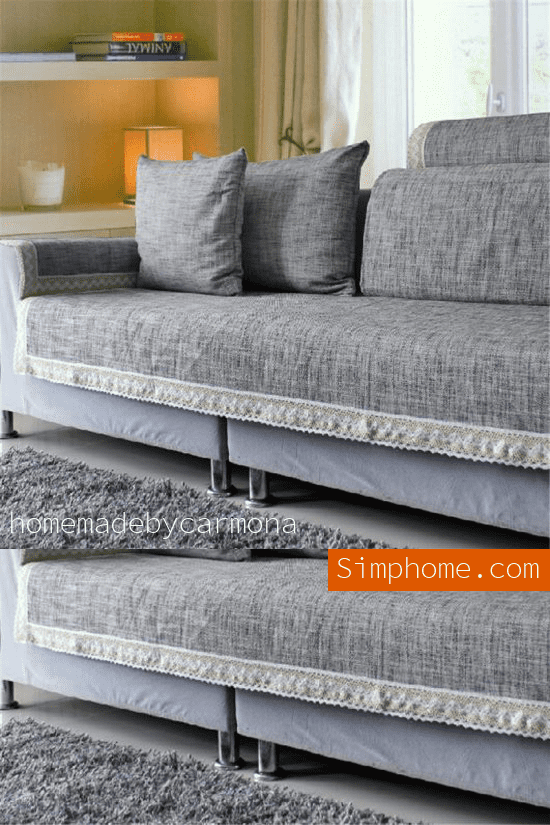 8. Simphome.com A Non Fitted Box Cushion Slipcover idea