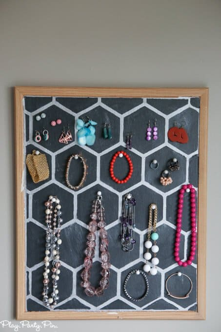 8.Simphome.com Cork Board Jewelry Holder