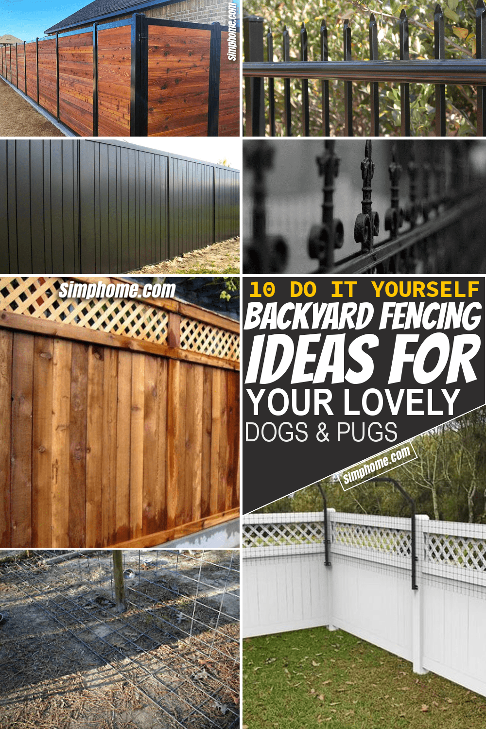 Simphome.com 10 Backyard Fencing Ideas for Dog Featured Image Pinterest