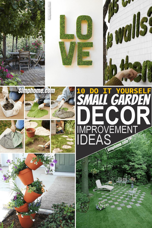 Simphome.com 10 Creative and Unique Small Garden Decor Ideas Pinterest Featured Image