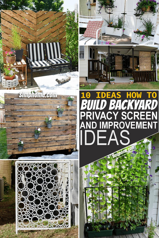 Simphome.com 10 DIY Backyard Privacy Screen Ideas Featured Pinterest Image