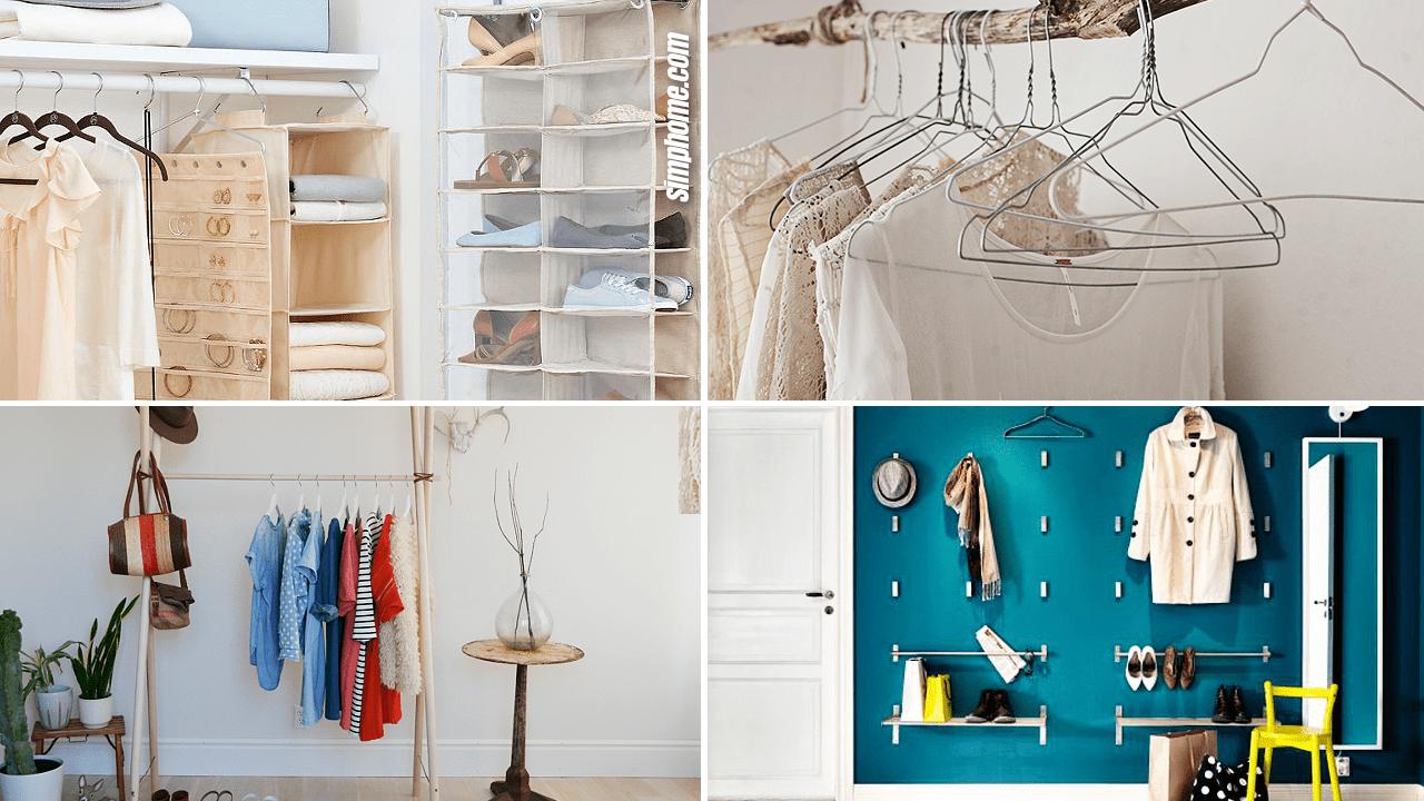 Simphome.com 10 DIY Small Bedroom Closet and Clothing Racks
