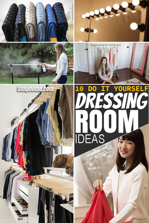 Simphome.com 10 DIY dressing room ideas Featured Pinterest
