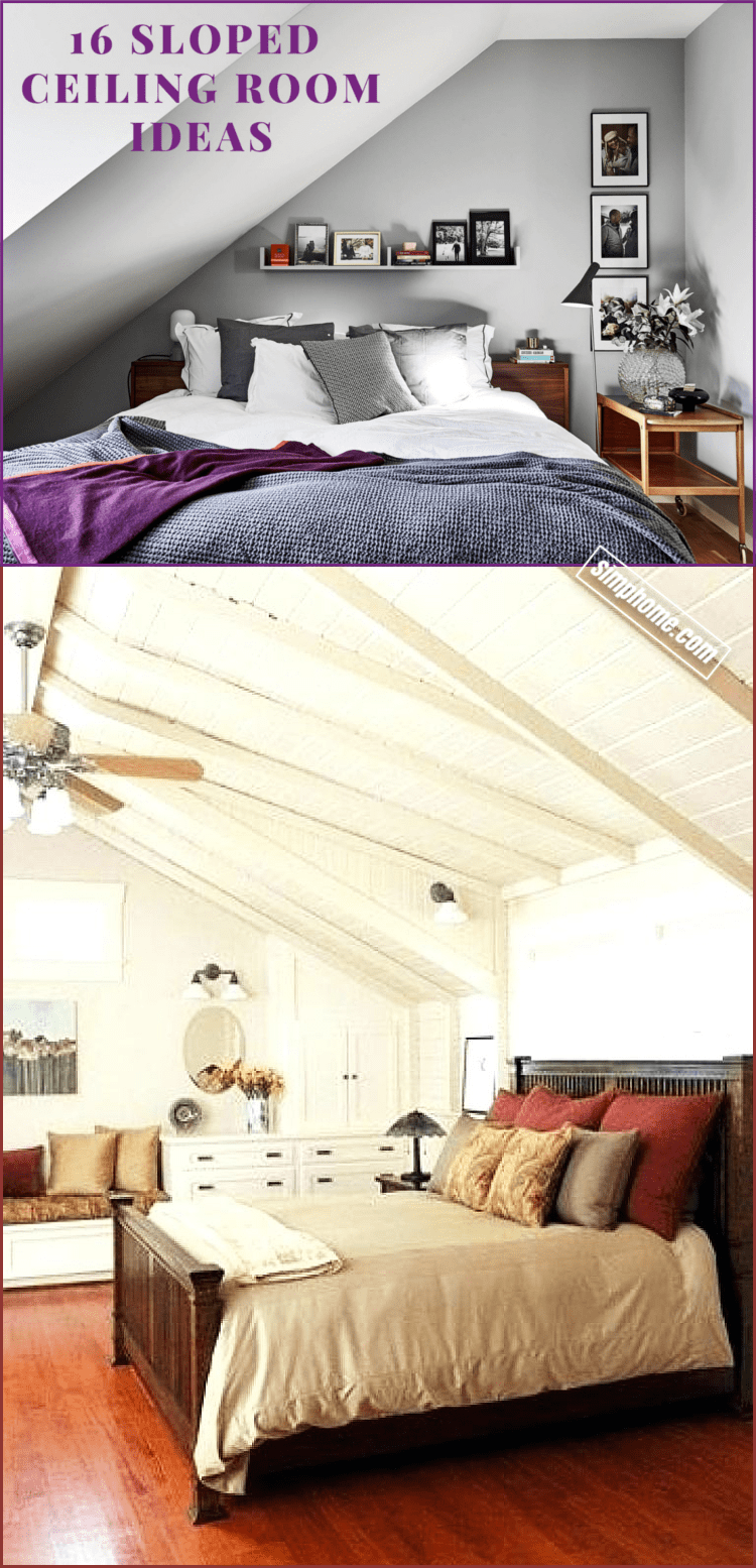 Simphome.com how to decorate sloped ceiling room ideas
