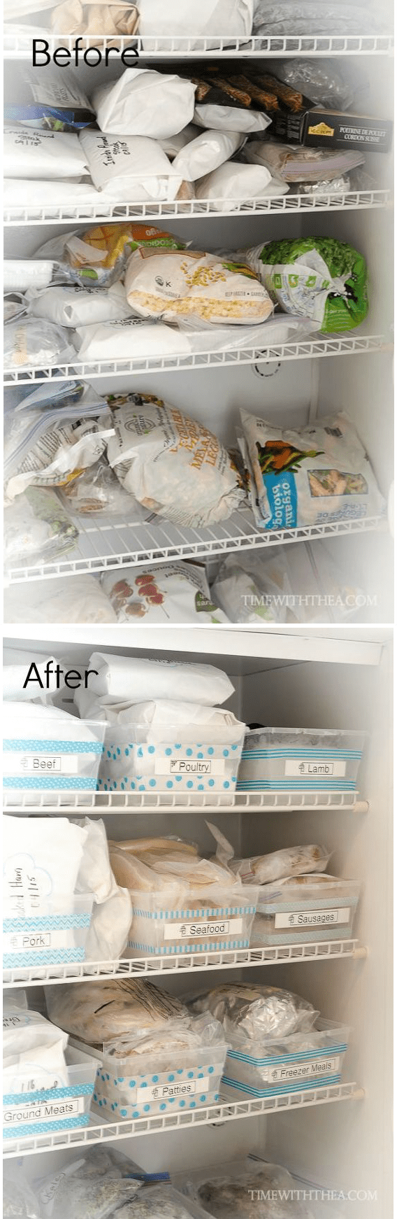 5.Simphome.com Freezer Organizer Project Idea