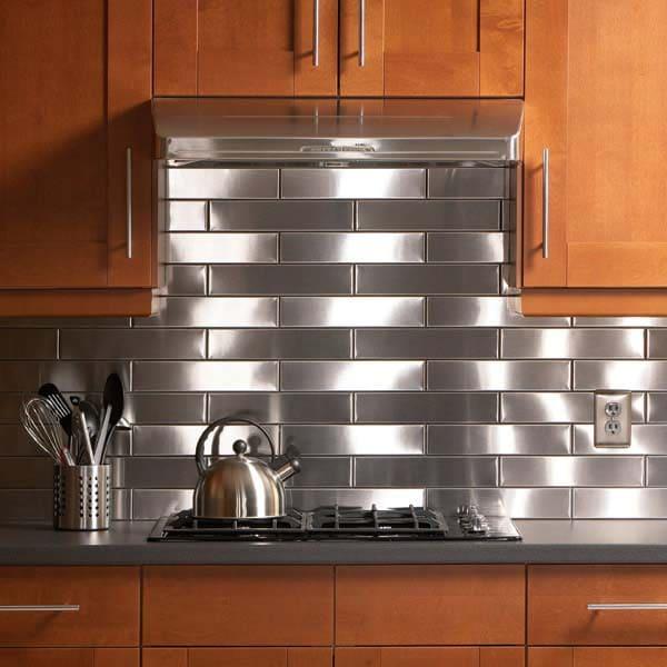 5.Simphome.com Stainless Steel Kitchen Backsplash