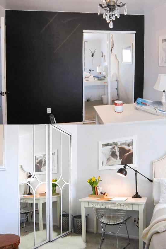 6.Simphome.com Add Trims to Mirror Doors