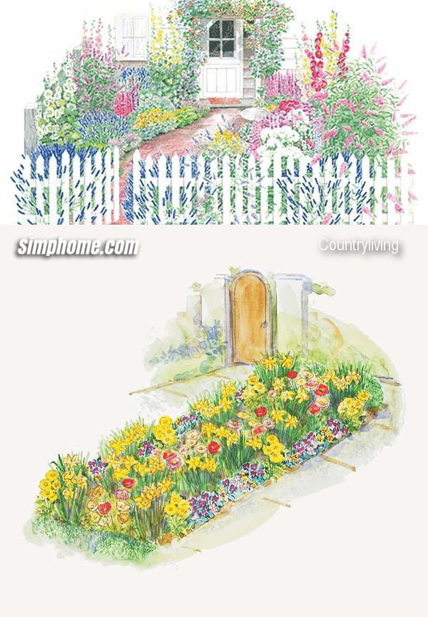 6.Simphome.com Cottage Garden Plan