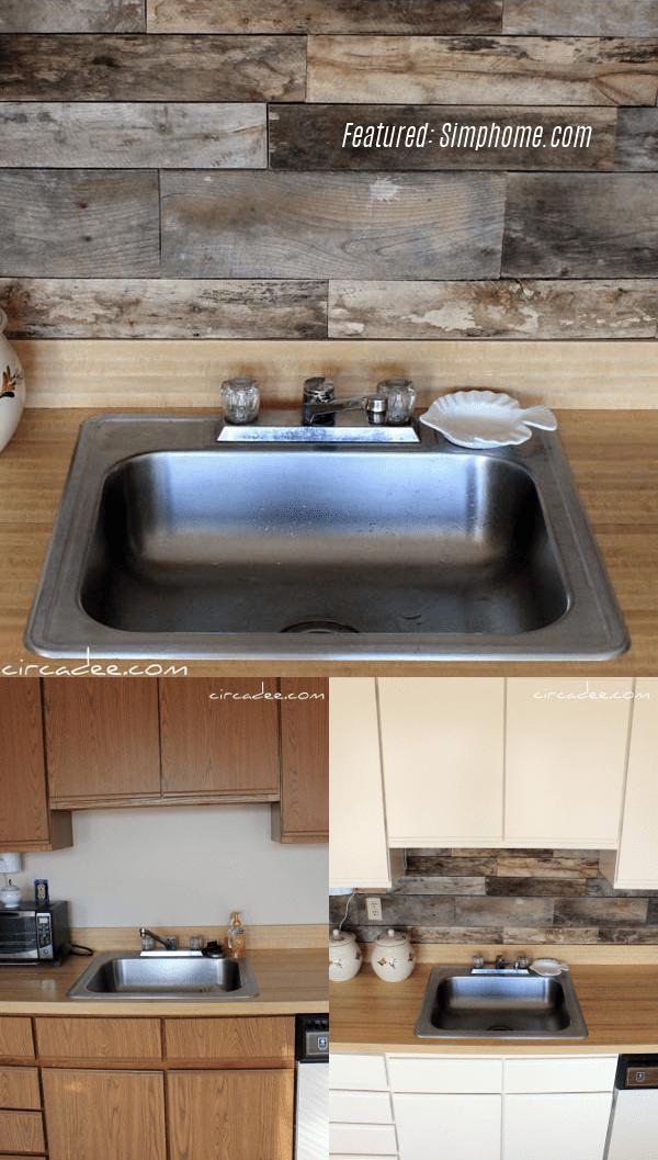 6.Simphome.com Old Wooden Pallet Kitchen Backsplash