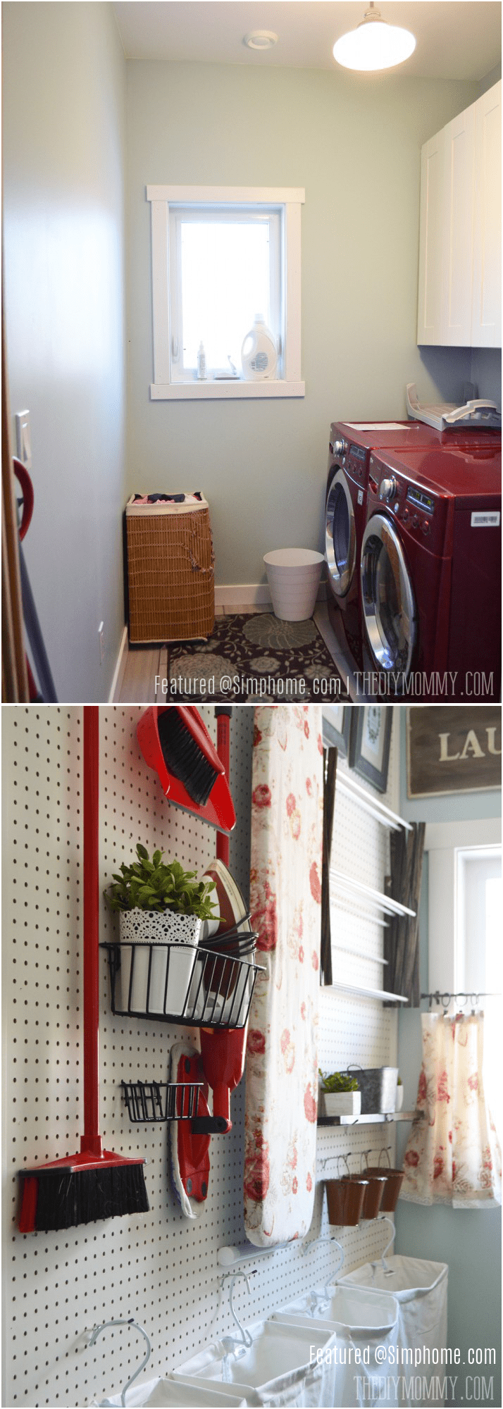 7.Simphome.com Bye Bye Messy Laundry Room